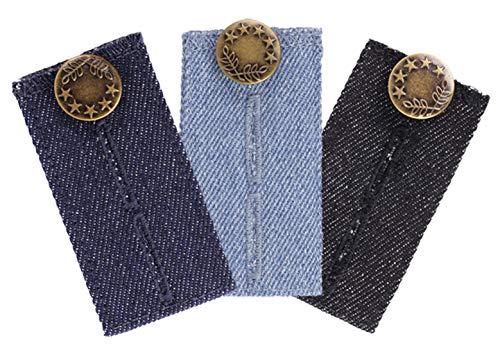 Comfy Fit Hosenerweiterung in Jeans Optik - Hosenbunderweiterung für Jeanshosen - 3er Pack