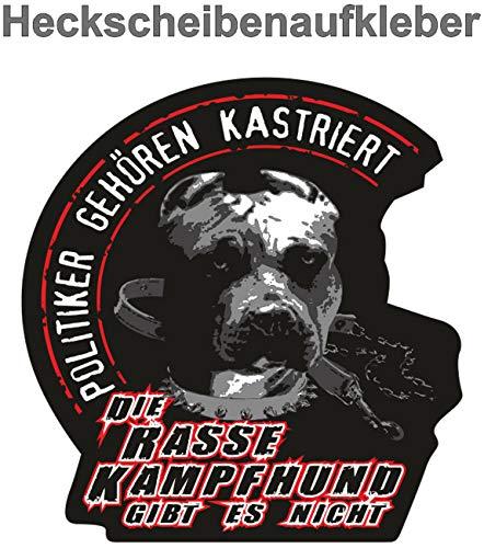 Aufkleber wetterfest Rasse Kampfhund 12 oder 40cm Pit Stafford Bull Dog Hund