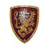 Liontouch 11350LT Mittelalter Edler Ritter Spielzeug Schaumstoff Schild für Kinder, Rot   Teil von Kostüm mit Schwert und Zubehör