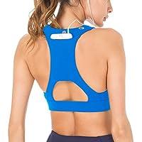 QUEENIEKE Soporte Medio para Mujer Sostén Deportivo con Espalda de Encaje con Sensación de Algodón