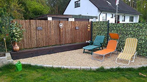 Nature LOUNGE Rindenmatte 150 x 300 cm - Sichtschutz Zaun mit Langer Haltbarkeit - Strapazierfähige Sichtschutzmatte aus Baumrinde