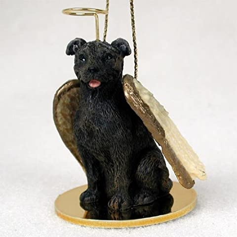Staffordshire Bull Terrier Angel Dog Ornament - Brindle by Conversation Concepts