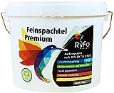 RyFo Colors Feinspachtel Premium 10kg (Größe wählbar) - Allzweckspachtelmasse Instant Spachtel Füllspachtel weiß Super-Finish