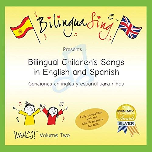 Canzone spagnole e inglese per bambini CD | Musica bilingue per bebi | (Vamos Vol.2) [Audio CD] BilinguaSing