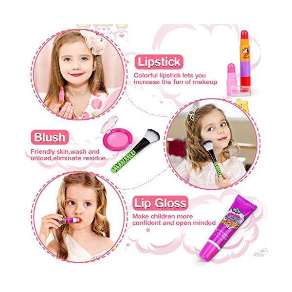 Jojoin Trucchi Bambina Set, 19 Pezzi Lavabile Makeup Set per I Bambini con 2 Clip di Colore, 3 Smalto per Unghie di… 5 spesavip