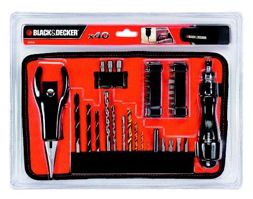 Black & Decker 40 tlg. Bit- und Bohrerset A7210-XJ