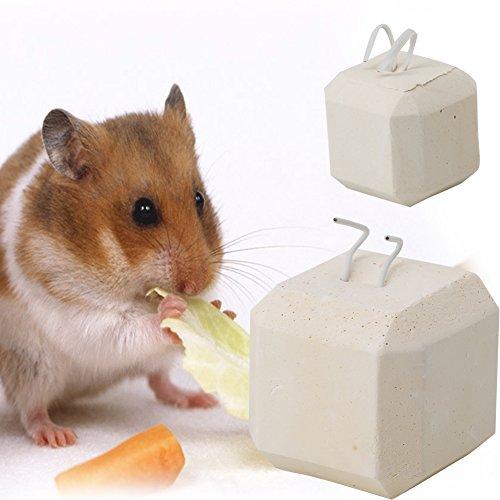 ECMQS Kleine Haustiere Kauen Spielzeug, Kalzium Mineral Zähne Schleifstein für Hamster Hase Vogel Spielzeug -