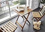 SAM® Gartengruppe, 3tlg, Balkongruppe aus Akazienholz, FSC® 100% zertifiziert, 1x Tisch + 2x Stuhl, geölt, Garten-Gruppe Test