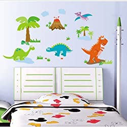 Gadfly- Cartoon Dinosaur Peel & Stick Nursery/baby Wall Sticker Decal