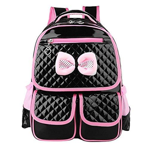 Schulrucksack, iTECHOR Mädchen Kinder Bowknot Rucksack Schulrucksack Schultasche (Satchel Leder Pocket Front)