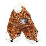 DINZIO Damen Hausschuhe/Socken, 3D, Tierfutter, Braun - Fuchs - Größe: One Size
