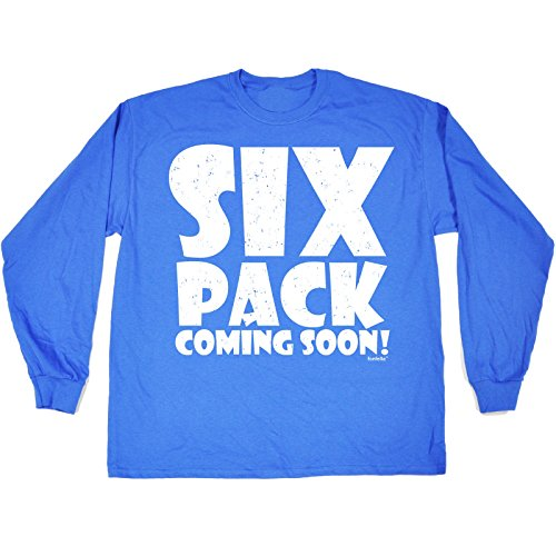 123t Men's 6 PACK COMING SOON! T SHIRT LONG SLEEVE Blau - Königsblau