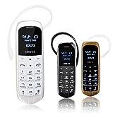 LONG CZ J8 Smallest Bluetooth Phone 3 in 1 unlocked micro SIM Phone+Bluetooth dialer+earphone 99.9% Plastic Boss Phone Support iPhone 4 mini SIM card 2G GSM network (black
