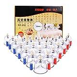 Dr.Lefran Chinesisches Schröpfen, 32-Tassen-Vakuumsauger Schröpfkit Massagesauger für Rücken- / Nackenschmerzen, Muskelentlastung