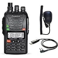 Wouxun KG-UV6D 4m/2m 66–88/136–174MHz Dual Band Radio 9006E–Ricetrasmettitore PMR amatoriale (con cavo di programmazione Usb e microfono)
