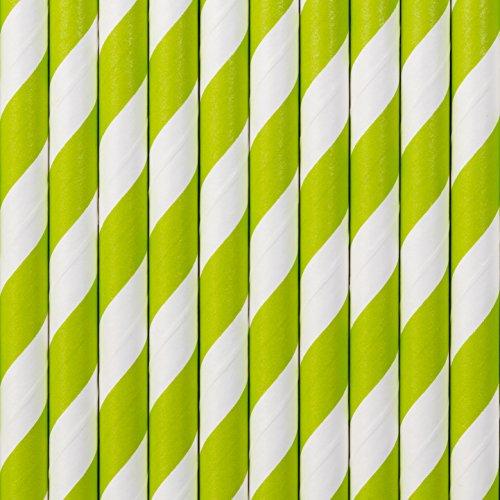 Weiß gestreift aus Pappe Strohhalme 10 Stück Party Deko Tischdeko Palandi® (Weiße Trinkhalme)