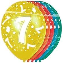 Flotador - Globos Número 7- 5 Unidad adecuado de helio allover imprimir