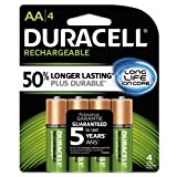 #5: Duracell Rechargeable Ultra Type AA Batteries 2500 Mah, Pack of 4