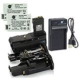 DSTE BG-E8 Apretón Batería + 2x LP-E8 Batería + USB Cargador para Canon EOS 550D 600D 650D 700D Rebel T2i T3i T4i T5i