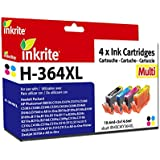 Inkrite Ink Cartridge for HP 364XL - Black/Cyan/Magenta/Yellow