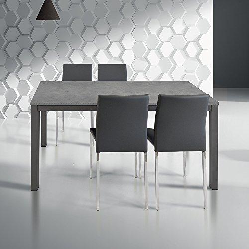 Tavoli Moderni Per Sala Da Pranzo.Tavolo Da Pranzo Moderno Di Design Allungabile Cm 70 X 110