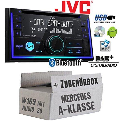 Mercedes A-Klasse W169 Audio 20 - Autoradio Radio JVC KW-DB93BT - 2-Din DAB+ Bluetooth MP3 USB - Einbauzubehör - Einbause