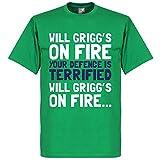 Will Grigg?s On Fire T-shirt - grün - XXL