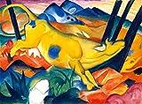 Kunstdruck/Poster: Franz Marc Die gelbe Kuh - hochwertiger Druck, Bild, Kunstposter, 80x60 cm