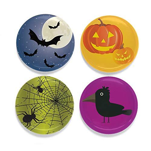 rankmagnet Set - Hergestellt in den USA Casual Halloween Moon ()