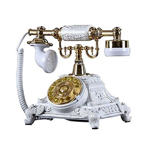 Maschine Ringer (Health UK Telephone- Telefon Mode Kreative Rotierenden Harz Luxus Platin Antike Retro Hause Festnetz Büro Festnetztelefon Mit Klassische Glocke Ringer Welcome ( größe : Electronic ring tones ))