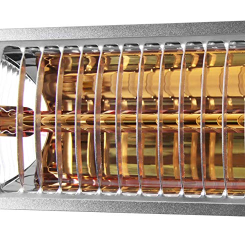 Firefly 3.000 Watt Infrarot-Heizstrahler (Goldröhre), Terrassenheizung Wandmontage, 2 Leistungsstufen, inkl. Fernbedienung - 9