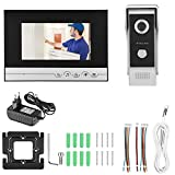 Boquite Zutrittskontrollsatz, 7-Zoll-TFT-LCD-Video-Türklingel-Monitor, visuelle Gegensprechanlage, Türsprechanlage, Kamera, IR(UK 100-240V)