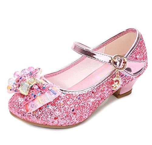 Mädchen Glitzer Strass Prinzessin Absatz Schuhe Sandalen