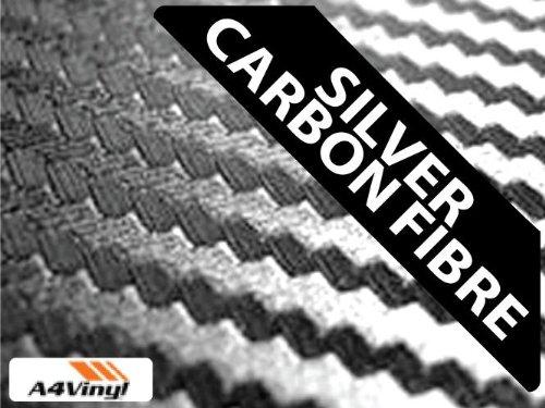 Vinile fibra di carbonio, colore: argento, formato A4, 297 x 210 mm, 1 x auto-adhesive fogli in fibra - A4 In Fibra Di Carbonio