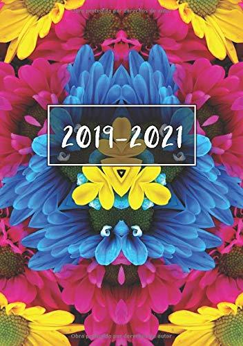 2019 - 2021: Comienza con semana 27 | Julio 2019 - Junio 2021 | Vista Semanal | 1 Semana en 1 Página | 24 Meses Calendario Planificador | A5 Planner | Caleidoscopio