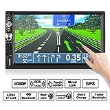Autoradio Doppio Din, LESHP 7 Pollici'HD Touch Screen Navigatore GPS Bluetooth Radio 2 din per auto FM/AM USB Stereo,Mirrorlink, Con controller del volante e alla telecamera di retromarcia