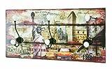 HAKU Möbel 42904 Wandgarderobe 60 x 12 x 30 cm, bunt