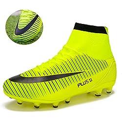 MAXTOP Zapatos de fútbol Hombre FG Spike Botas de fútbol de Caucho para Hombre Adulto Zapatos de Fútbol