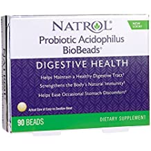 Natrol Probiotic Acidophilus BioBeads (90 Beads (2.5 Billion Live Cultures))  by Natrol