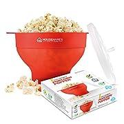La ciotola è semplice da utilizzare, tanto quanto le normali buste di popcorn da cuocere al microonde. Prepara popcorn deliziosi in maniera semplice e rapida.  Istruzioni: Con la ciotola per popcorn al microonde di Housewares Solutions, prepa...