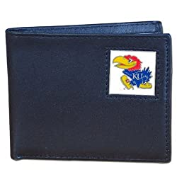NCAA Kansas Jayhawks Leather Bi-fold Wallet
