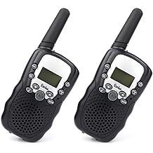Walkie Talkies - BeiLan 8 Canales UHF 400-470MHz Radio de dos vías 3 kilómetros de largo distancia de la gama Interphone niños Walky Talky para los niños (Ambas Baterías de 2*4*AAA y Cargador NO Están Incluidos)