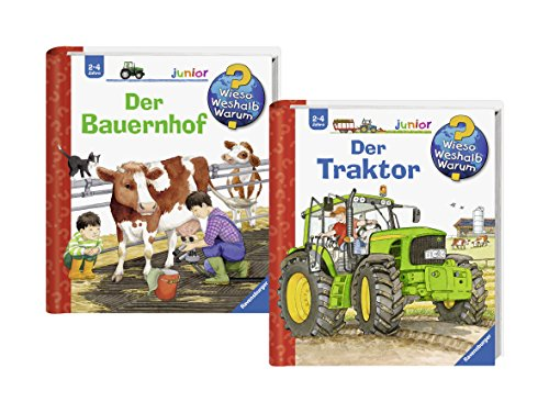 Ravensburger Junior Bücher Set - Wieso? Weshalb? Warum? Der Bauernhof und Der Traktor