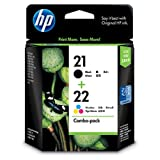 HP 21-22 Combo Inkjet Print Cartridges (Black/Tri-color)