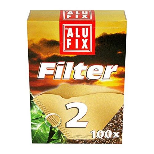 1000 Stk. ALUFIX Kaffee Filterpapier Kaffeefilter ungebleicht Größe 2