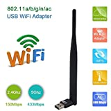 PIX-LINK WiFi Dongle Internet at high speed 300 / 600Mbps USB adapter WiFi USB wireless network adapter for Windows XP / Vista / 7/8 / 8.1 / 10 (32 / 64bits) Mac os10.6 - 10:10 Black Black 600M Antenna - PIX-LINK - amazon.co.uk