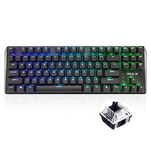 RantoPad MXX Gaming-Tastatur mechanisch, QWERTY, 87Tasten RGB-Black