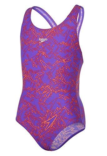 Speedo Girls' Boom Allover Splashback Swimwear - Purple/Pink, Size 28
