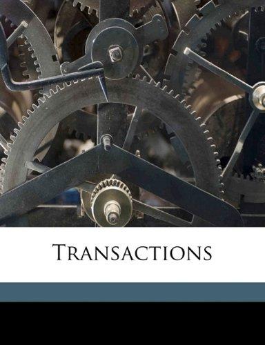 Transaction, Volume 06