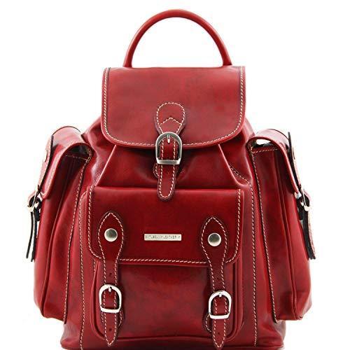 Tuscany Leather Pechino Exklusiver Rucksack aus Leder Rot